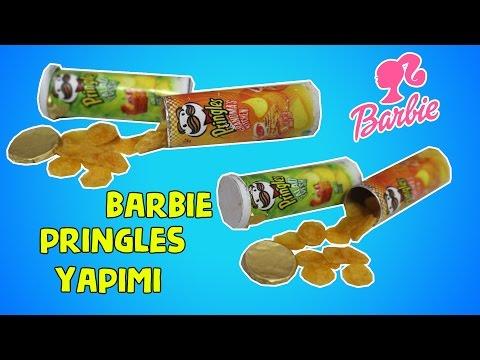 Barbie Yenilebilir Pringles Yapımı - Kenin Yap Minyatür Barbie Yiyecekleri - Bidünya Oyuncak