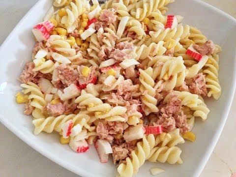Receta de ensalada de pasta con vegetales youtube - Ensalada de arroz light ...