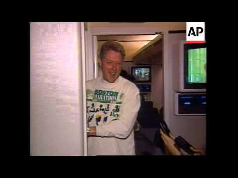 USA: PRESIDENT CLINTON'S PLANE HITS BANK OF THUNDERSTORMS