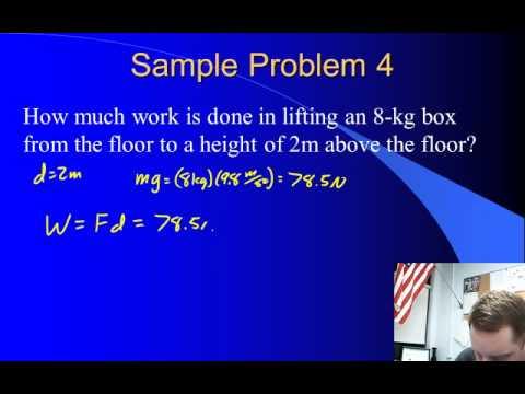 High School Physics - Work