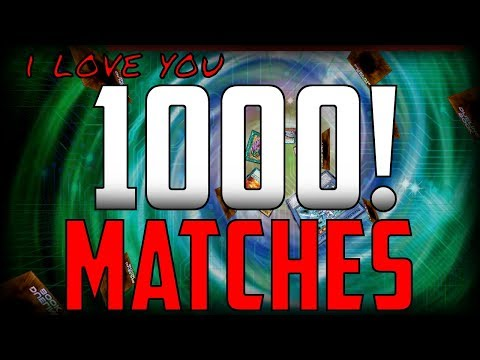 Winning 1000 matches in Yu-Gi-Oh!(I Love you 1000!)