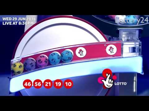 2016 06 29 UK lotto Numbers and draw results