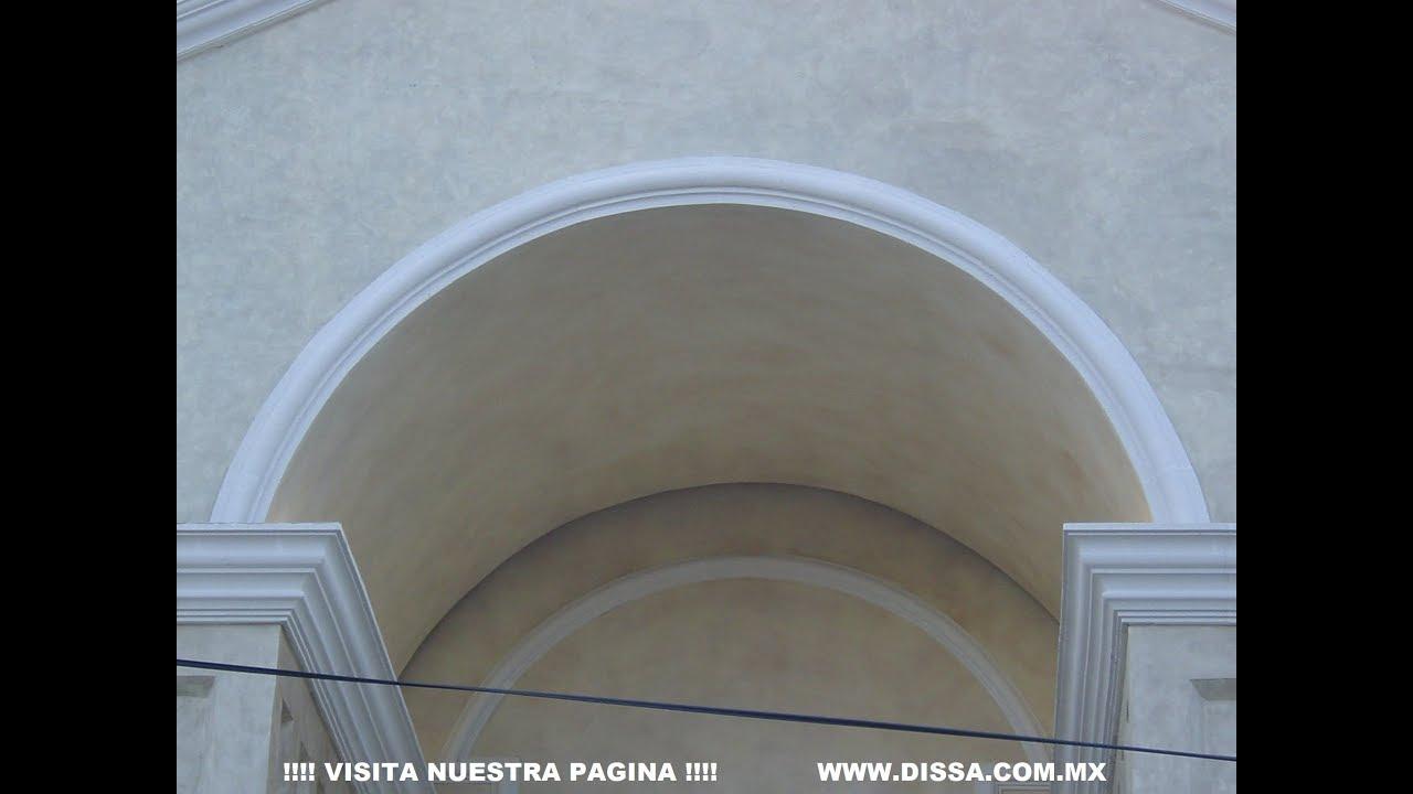 Marco de ventana con arco molduras decorativas dissa - Molduras para ventanas exteriores casas ...