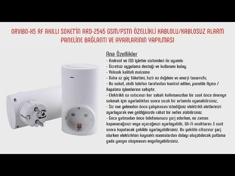 ORVIBO-X5 RF AKILLI SOKET ARD-2545 GSM/PSTN KABLOLU/KABLOSUZ ALARM PANELİ BAĞLANTI VE AYARLARI
