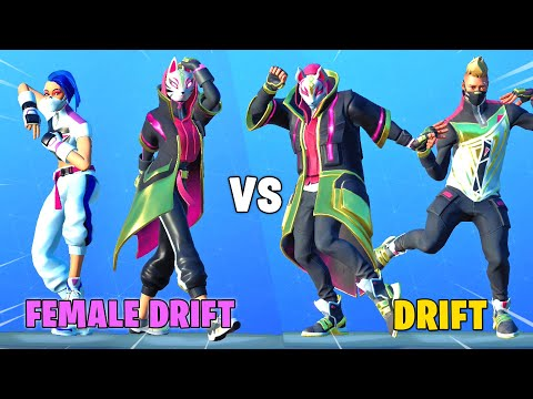 CATALYST Vs DRIFT In Fortnite Dance Battle (Male Vs. Female Drift)