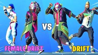 CATALYST vs DRIFT in Fortnite Dance Battle (Male vs. Female Drift)