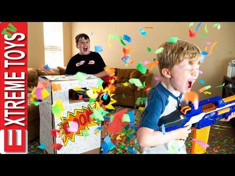 Sneak Attack Squad Birthday Confetti Blaster Nerf Battle!
