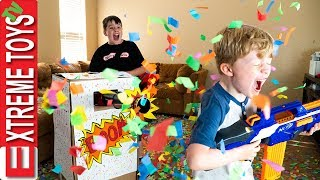 Sneak Attack Squad Birthday Confetti Blaster Nerf Battle! thumbnail