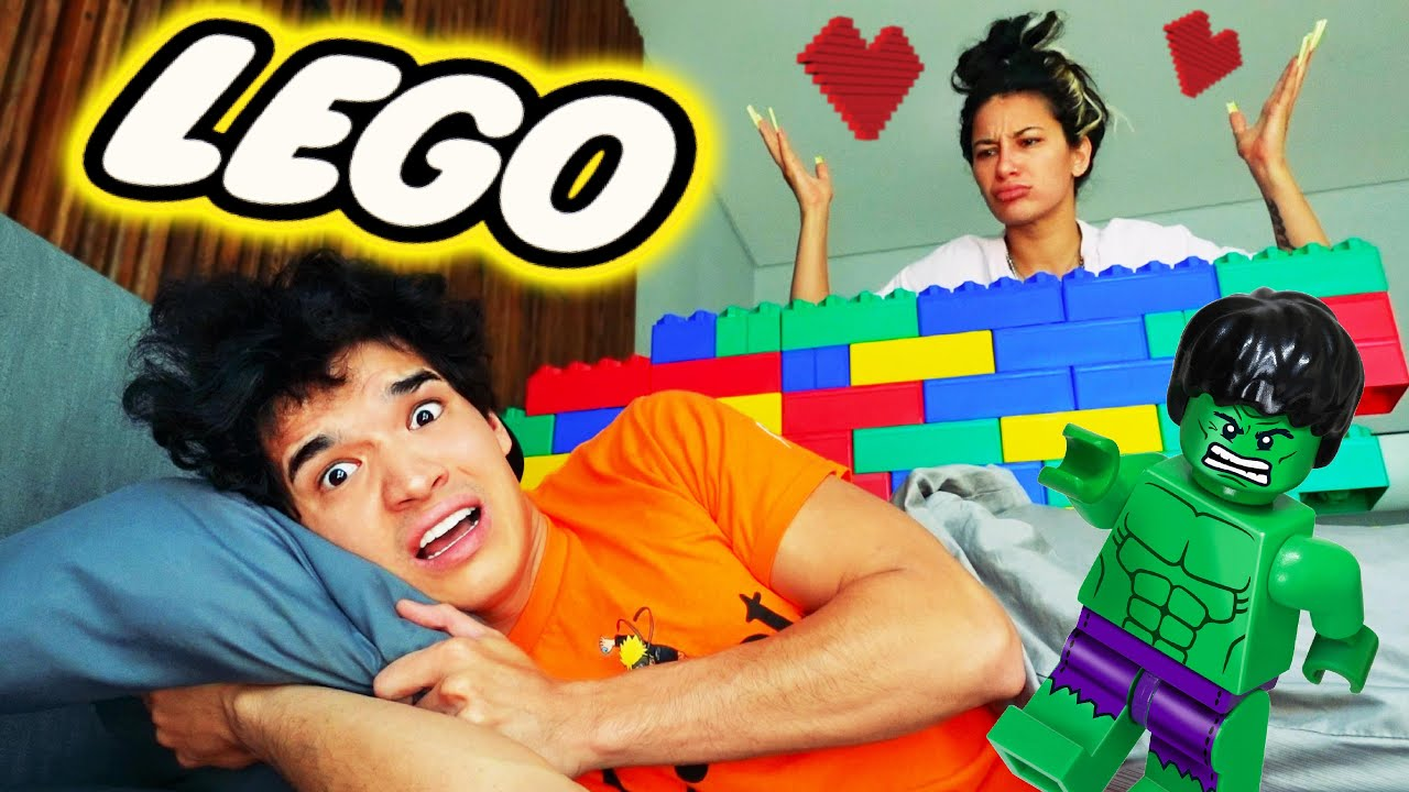 Built A Lego Wall in Bed! *angry girlfriend*