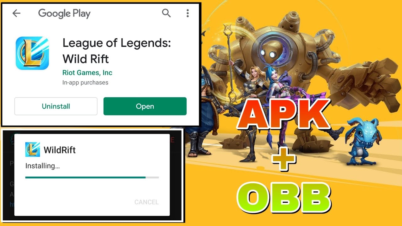 How To Download Apk Obb Of League Of Legends Wild Rift Lol Mobile News Youtube
