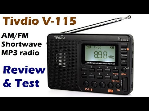 Tivdio V-115 AM/FM/shortwave MP3 recording radio review & test