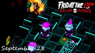 Friday the 13th Killer Puzzle Daily Death September 28 2020 Walkthrough