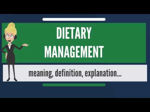 What is DIETARY MANAGEMENT? What does DIETARY MANAGEMENT mean? DIETARY MANAGEMENT meaning