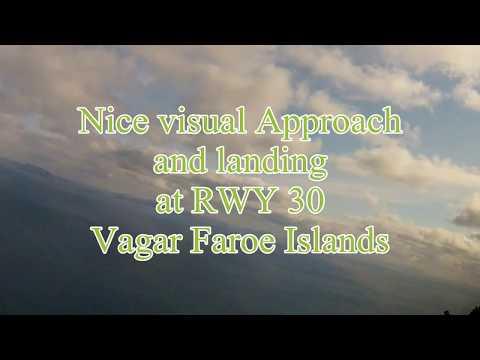Unbelievable approach and Landing - Avro Cockpit - view Faroe Islands - WATCH IN HD