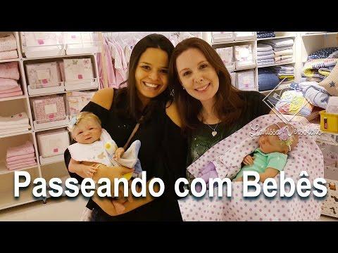 Cegonhas Passeando com Bebês Reborn no Shopping Iguatemi de Brasília