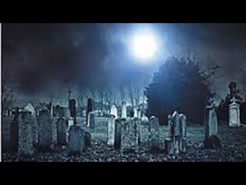 Haunted Ghost House Trail with Creepy Cemetery