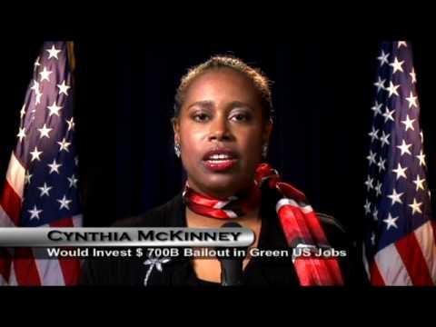 Cynthia McKinney - Rebuild the Economy with Energy Efficient Cars