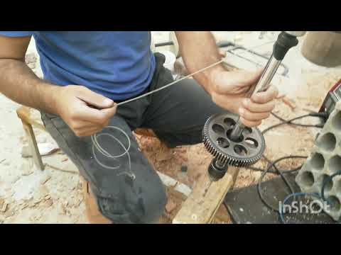 My new idea of homemade hand powered drill- yo yo drill- vs sds power drill - fast competition