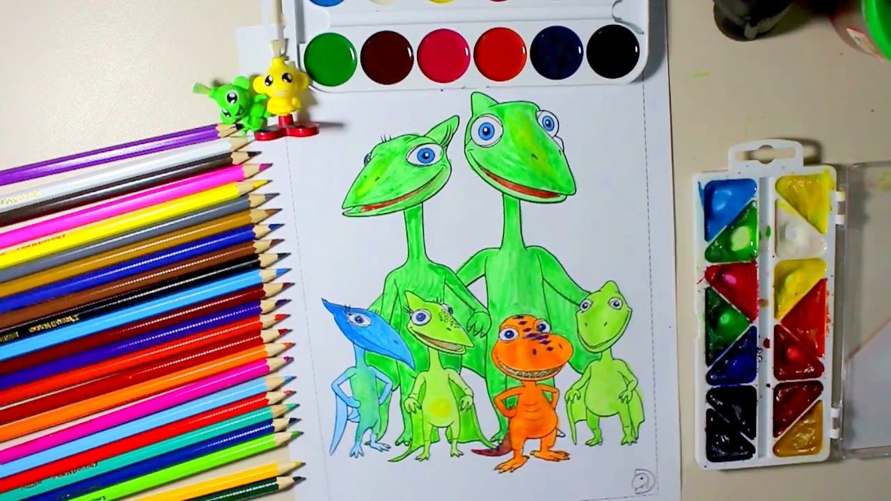 Dinosaur Train MUDDY : coloring book - YouTube
