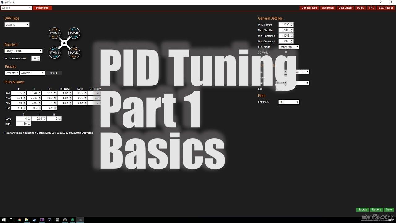Tuning PID's Part 1 Basics - FPV Playlist