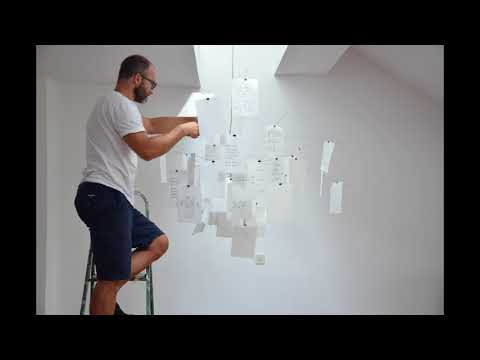 Ingo Maurer Zettel'z Suspension Light Installation