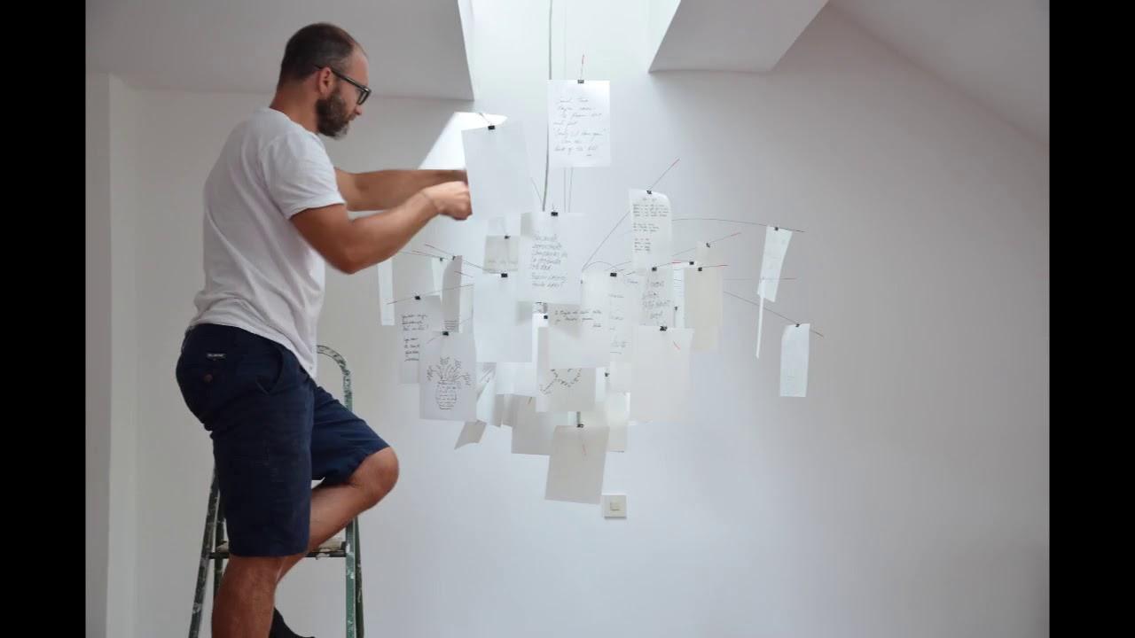 ingo maurer zettel 39 z suspension light installation youtube. Black Bedroom Furniture Sets. Home Design Ideas