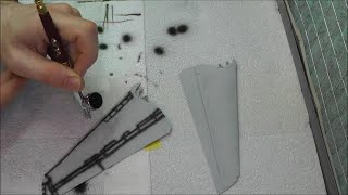 Pre-Shading Panel Lines With An Airbrush : Tutorial