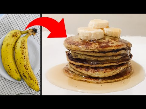 PANCAKES SIN HARINA y sin gluten (2 INGREDIENTES) Demasiado f?cil