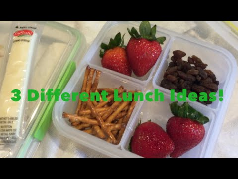 3 Different Lunch Ideas | Pulled Chicken Sandwiches, PB & J Roll Up &  A Snacky Assortment