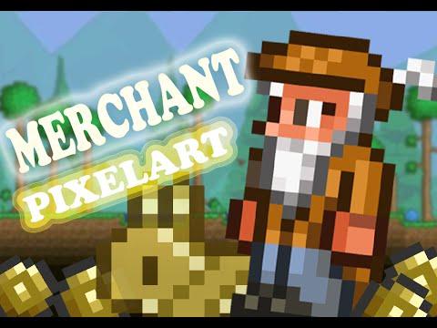 BUILDING THE MERCHANT | Terraria [1.3] Pixel-Art Timelapse