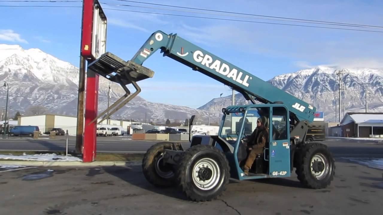 SOLD ~ 2005 Forward Reach Forklift Gradall JLG G6-42P 6,600 LB 42' 4x4 John Deere Diesel ...