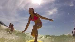 gopro surfing with my family in panama city beach