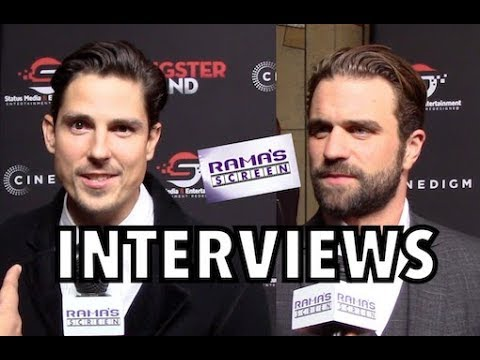 My 'GANGSTER LAND' Premiere Interviews with Sean Faris and Milo Gibson