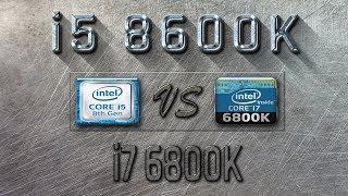 i5 8600K vs i7 6800K Benchmarks  Gaming Tests Review & Comparison