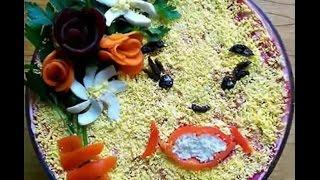 Украшение салатов-кулинарные шедевры