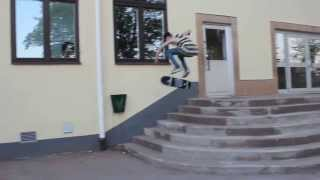 Kickflip 7 stairs HD