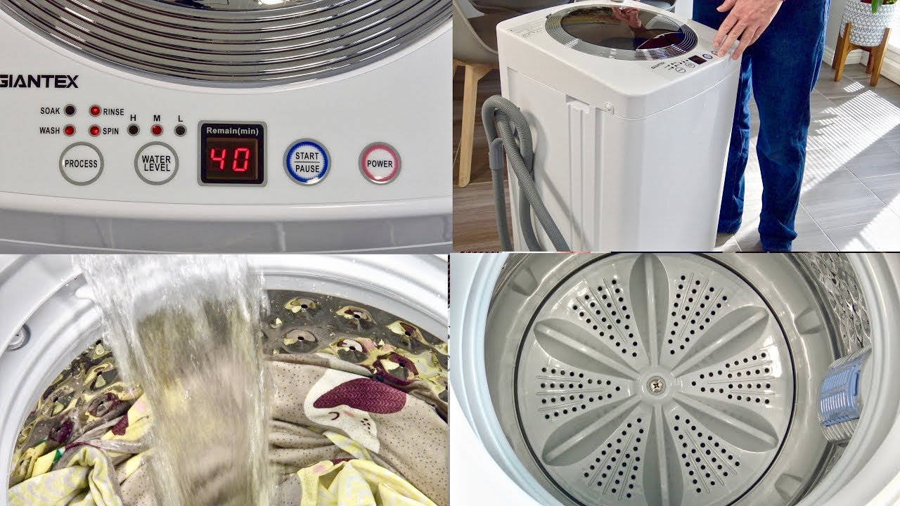 Giantex Portable Compact Full-Automatic Laundry 8 lbs Load Capacity Washing Machine Washer//Spinner W//Drain Pump