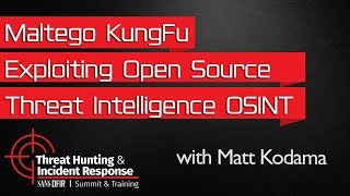 Maltego KungFu Exploiting Open Source Threat Intelligence OSINT To Gain Strategic Advantage Over You