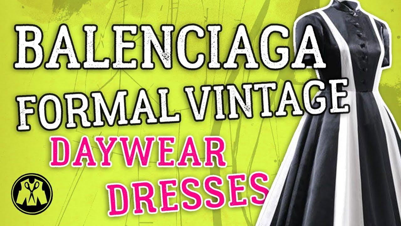 Monarca disinfettare coalescenza  Pattern Cutting + Fashion Chat: Balenciaga 1960's Formal Vintage ...