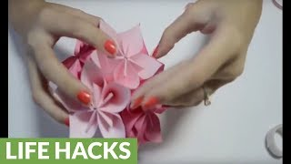 DIY paper crafts: How to fold an origami flower ball
