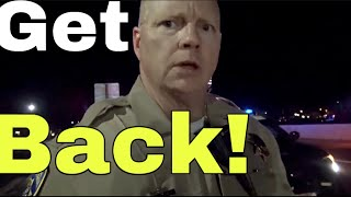 CHP Tries To Intimidate Us Instead Does The Walk Of Shame TCCW SVW CVW 1st Amendment