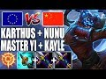 META CHINÊS VS META EUROPEU: MASTER YI + KAYLE VS KARTHUS + NUNU - League of Legends