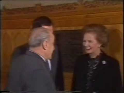 Margaret Thatcher visits Hungary 5th Feb 1984