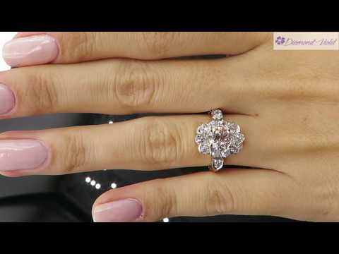 GIA 2 01CT ANTIQUE VINTAGE OLD EURO DIAMOND CLUSTER ENGAGEMENT WEDDING RING