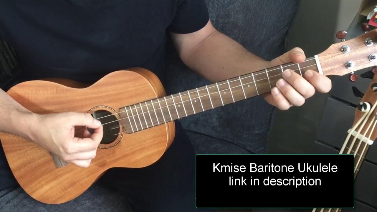 Baritone Ukulele 30 inch Uke Mahogany With DGBE String Strap Ukulele picks From Kmise