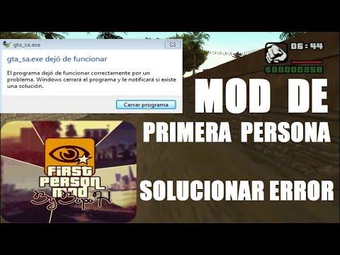 Mod De PRIMERA PERSONA Para GTA San Andreas + Solución (dejo De Funcionar)