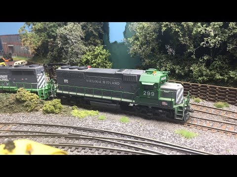 Virginia Midland HO Layout July 4th 2017 Special Easy Batch Weathering
