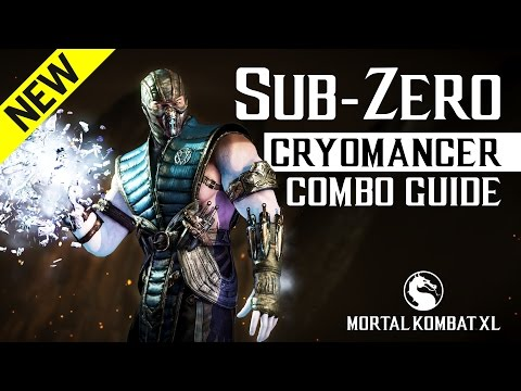 Mortal Kombat X: SUB-ZERO (Cryomancer) NEW Combo Guide