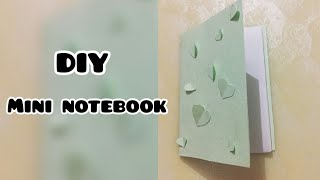 DIY: كيفية جعل mini notebook| ن لطيف سهل|| إنشاء ن الفن