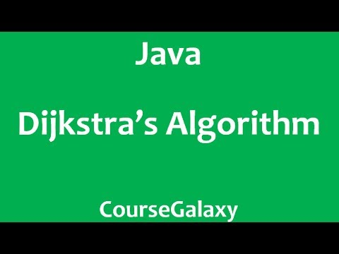 Dijkstra's Algorithm In Java (Theory + Implementation)